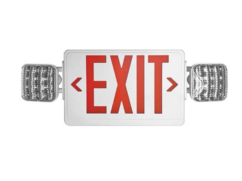 led exit signs exit emergency light combo relightdepot