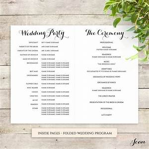 Byron printable wedding order of service template for Wedding ceremony order of service template