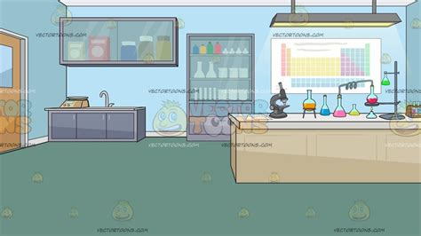science laboratory background clipart cartoons
