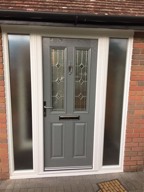 grey composite door fitted  waltham abbey  canon windows