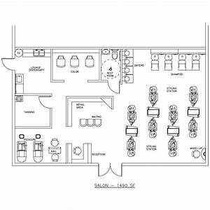 beauty salon floor plan design layout 1490 square foot With hair salon floor plans download