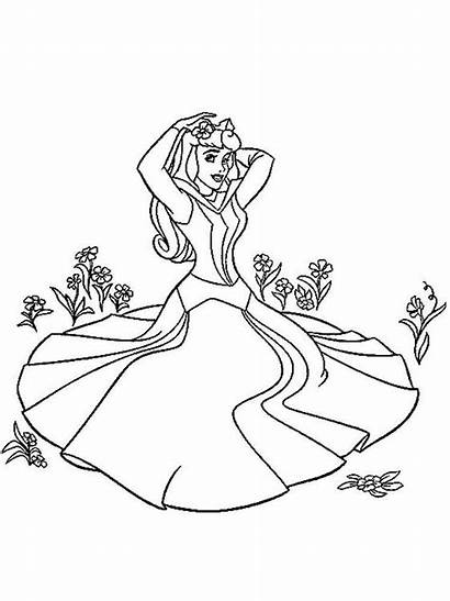 Aurora Coloring Pages Princess Printable Recommended Mycoloring