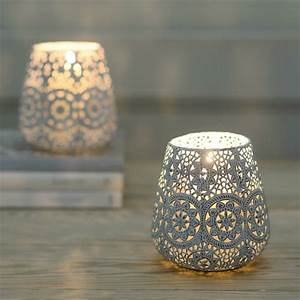 Lace Doily Tea Light Candle Lantern By The Flower Studio
