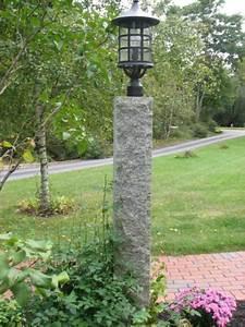 8, U2032, Granite, Lamp, Post, -, Mailbox, Lamp, U0026, Stone, Posts
