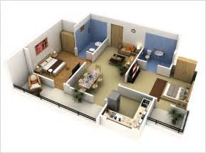small 2 bedroom floor plans 10 awesome two bedroom apartment 3d floor plans