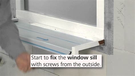 Replace Window Sill Outside by How To Install The Stofentra Profi Window Sill