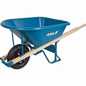 Jackson 575 Cu Ft Thermoformed Poly Wheelbarrow MP57514