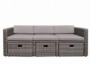 Rattan Sofa 2 Sitzer : rattan loungem bel gartensofa hannover 3 5 sitzer farbe grau braun meliert ~ Whattoseeinmadrid.com Haus und Dekorationen