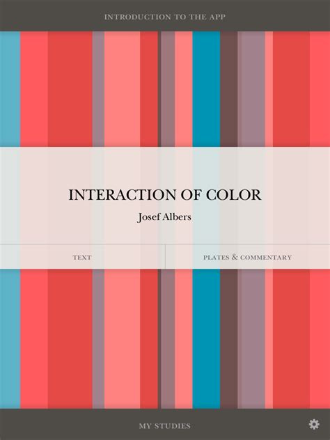 Color Of by Josef Albers Interaction Of Color App