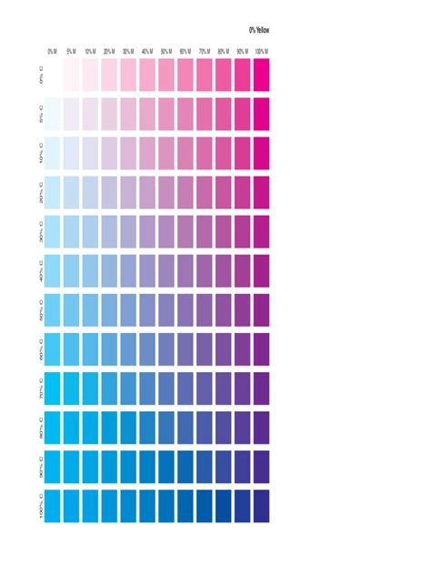 cmyk color chart template   templates   word