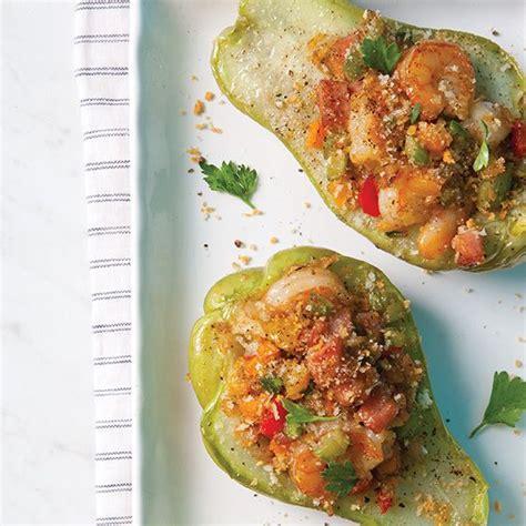 mirliton cuisine thanksgiving shrimp and vegetables on