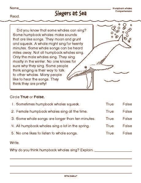 2nd grade reading worksheets printable reading reading