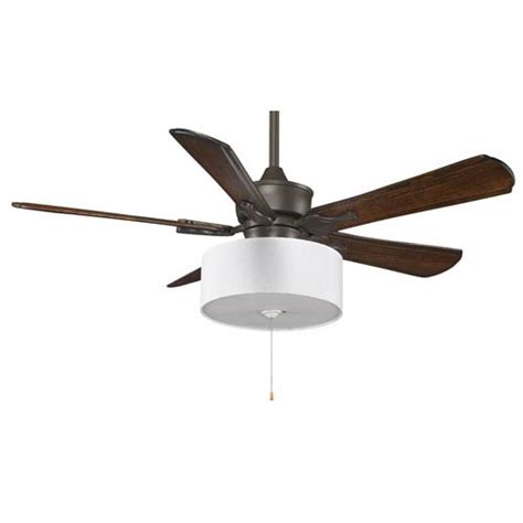 drum shade ceiling fan islander oil rubbed bronze 52 inch ceiling fan with walnut