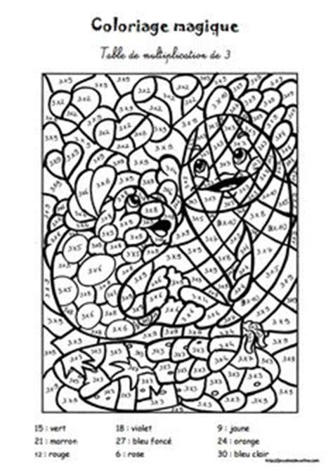 coloriage magique les tables de multiplication automne skola