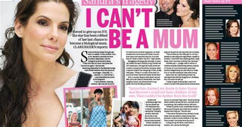 Sandra Bullock's tragedy: I can't be a mum