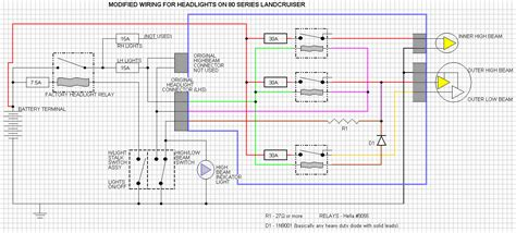 wiring diagram to install led headlight upgrade 60 or 80