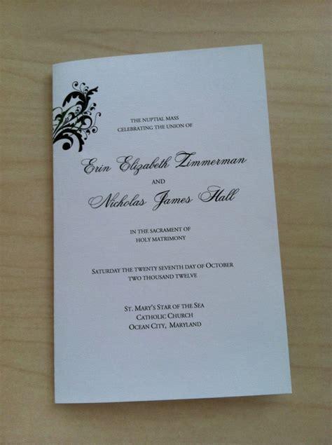 Mass Booklet Templates by Free Catholic Wedding Program Template