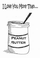 Coloring Butter Peanut Cartoon Than sketch template