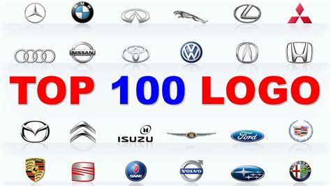 top 100 logo cars 100 best car brands learn car brands with cat youtube