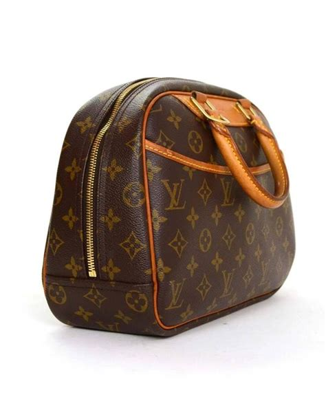 louis vuitton brown monogram coated canvas trouville bag