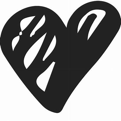 Scribble Heart Stamp Rubber Bold Clipart Stamps