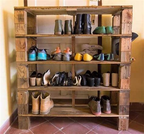 pallet shoes rack ideas   easy   pallets designs