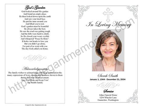memorial service program memorial service program sle funeral programs exles for memorials