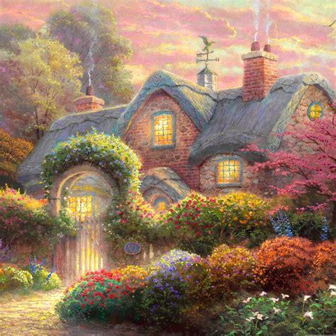 Kinkade Cottage Paintings by Kinkade Painter Of Light Kinkade