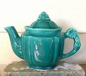 Vintage Green Teapot, Vintage Blue Teapot, Vintage USA ...