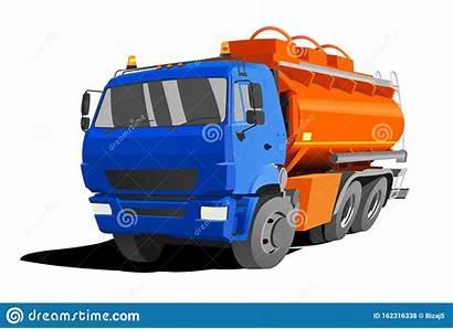 Truck Tanker Fuel Gasoline Tank Flat Autocarro
