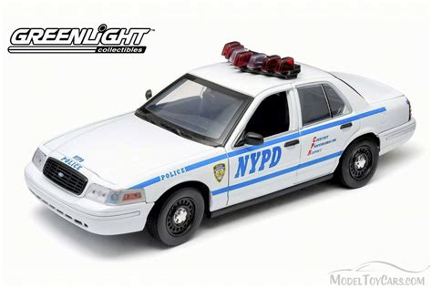 1 18 police car with ford crown victoria police interceptor new york police