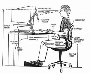 Diagram Showing The Proper Relationships Between An Individual And Typical Computer Work Station