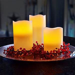 Flameless Battery Operated Led Flickering Light Candles