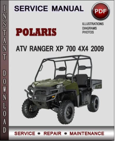 polaris atv ranger xp 700 4x4 2009 factory service repair manual do