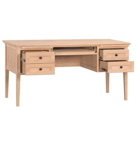 [60 Inch] Mckenzie 4 Drawer Desks  Bare Wood Fine Wood. 2 Inch Drawer Handles. Desk Chair Heater. Study Tables. George Costanza Under Desk