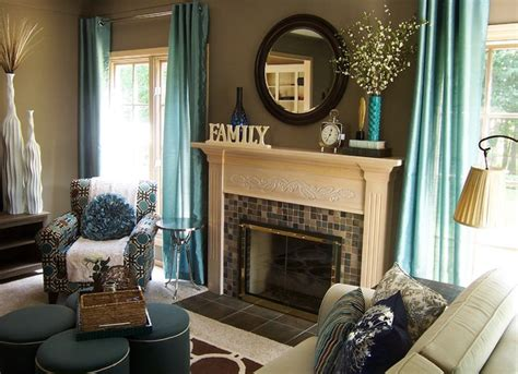 Teal Brown Living Room Ideas by Teal And Taupe Living Room Contemporary Living Room