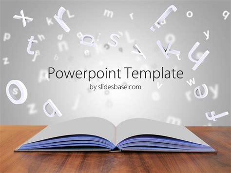 book powerpoint template slidesbase