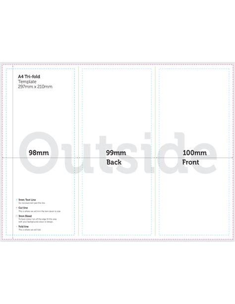 A4 Tri Fold Brochure Template A4 Brochure Tri Fold Template Free