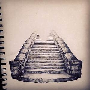 Drawn heaven stairway to heaven - Pencil and in color ...