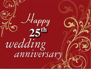 happy 25th wedding marriage anniversary wishes for With 25 year wedding anniversary