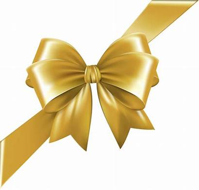 Ribbon Bow Transparent Gold Corner Clipart Ribbons