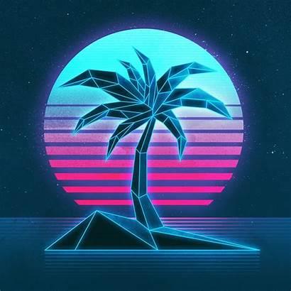 Neon Vaporwave Texture 1980s Wallpapers Mobile Desktop