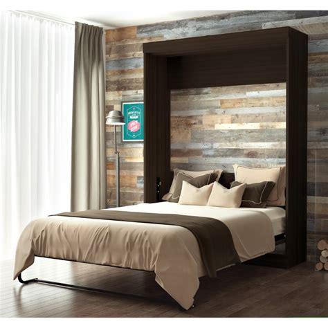 bestar wall beds bestar edge wall bed in chocolate 70184 79