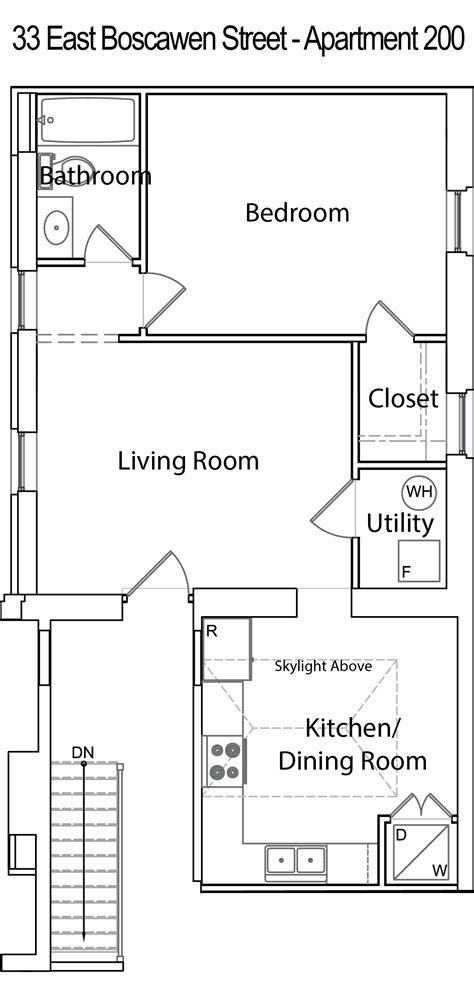 Downtown Apartment   33 E. Boscawen St., 2nd Floor