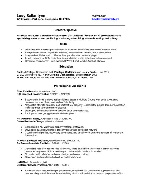 real estate resume sles