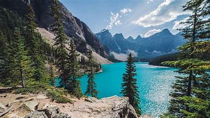 Lake Mountain Summer Canada Nature Landscape Forest