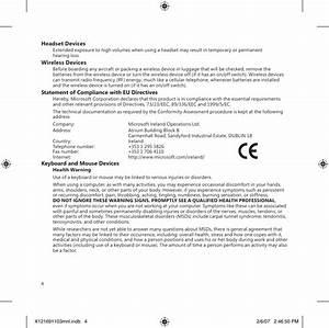Microsoft 1356 Microsoft Wireless Keyboard User Manual