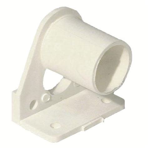 pvc curtain rod smart home products white pvc curtain rod bracket 2 pack