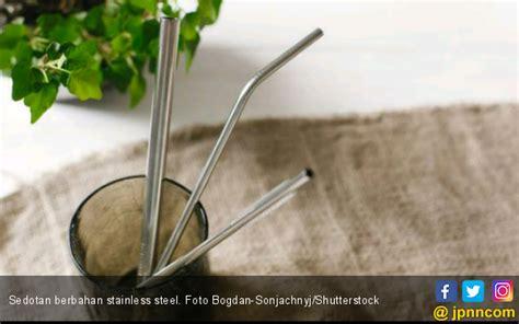 sedotan bahan stainless steel baik  kesehatan