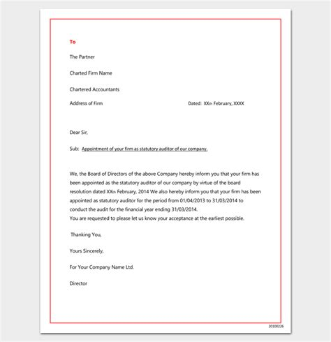 company appointment letter  docs  word   format